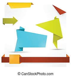 origami, móda, řeč, prapor, noviny