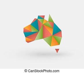 Origami map of australia