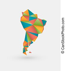 Origami map of south america