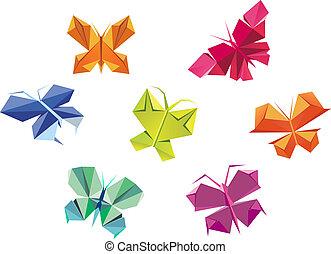 origami, mariposas