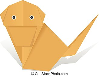 origami monkey   Origami diagrams, Origami monkey, Origami easy   194x245