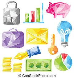 origami, oggetto, ufficio