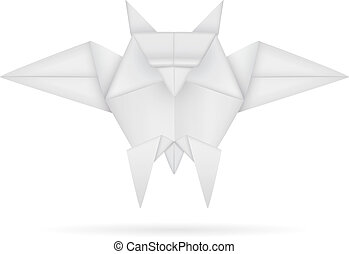 Origami owl - An illustration of a paper origami owl.