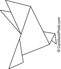 origami, pássaro