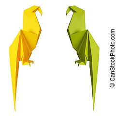 origami, papagai