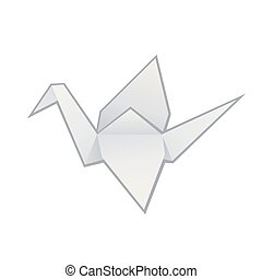 origami, papel, grúa