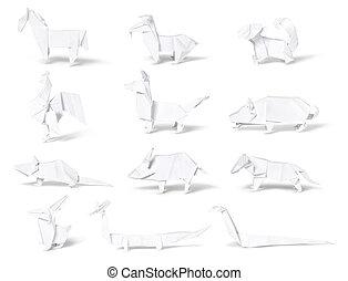 Origami, paper chinese zodiac - Origami, chinese zodiac ...