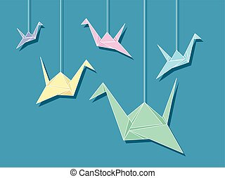 Origami Paper Cranes Strings
