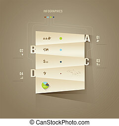 Origami paper cuts Infographics