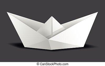 paper ship paper origami tinker fold white