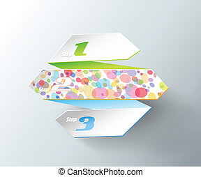 Origami paper with place for your own text.