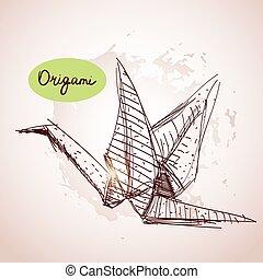 origami croquis oiseau style ou format use vecteur search clip art illustration. Black Bedroom Furniture Sets. Home Design Ideas
