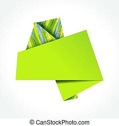 origami, parole, coloré, bulle