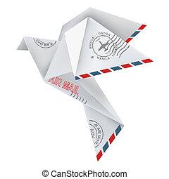 origami, pombo