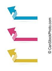 origami, ráncos, nyíl
