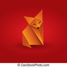 origami, räv