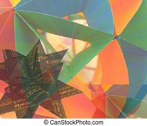 origami, résumé, étoile, mondiale