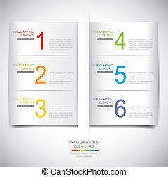 origami, résumé, infographics