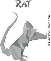 origami, rat