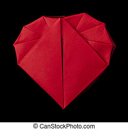 Origami red heart