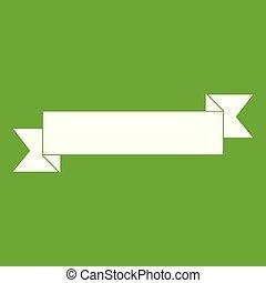 Origami ribbon icon green
