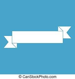Origami ribbon icon white