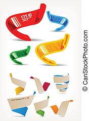 origami, sätta, mega, färgrik