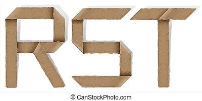 origami, s, r, t, alfabeto