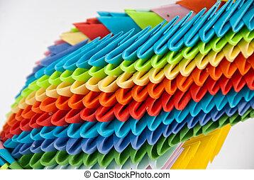 origami, schwan, detail