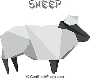 origami, sheep
