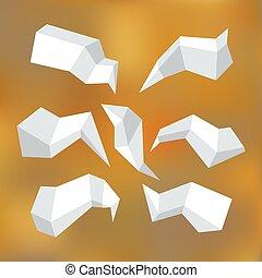 Origami speech bubble 2