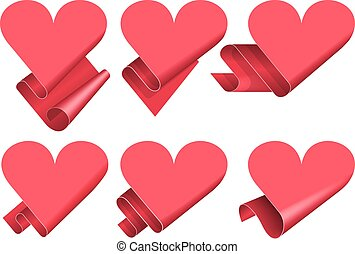 Origami speech bubble - Valentine day heart shaped origami...