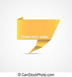 Origami speech bubble. Vector illustration.