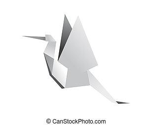 Origami stork