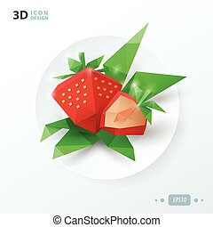 origami strawberries on dish