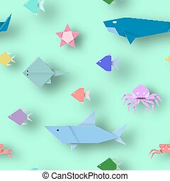 Paper with Cut Animals.