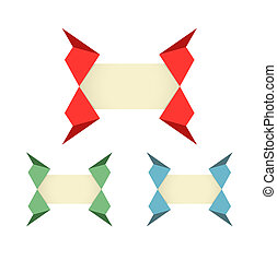 origami style label