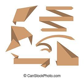 origami, szalagcímek, dolgozat