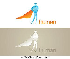 origami, towarzyski, ludzki, ikona