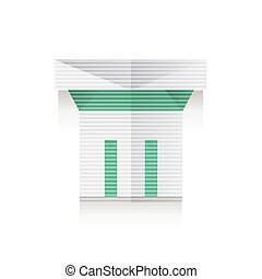 origami, uralt, spalten, ikone