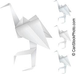 origami, vogels