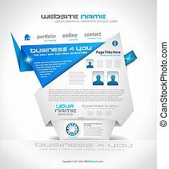 Origami Website - Elegant Design for Business