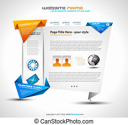Origami Website - Elegant Design for Business Presentations....