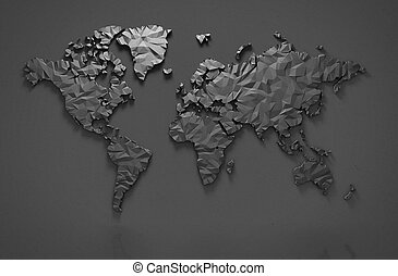 Origami world map