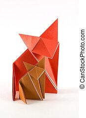 origami, zorro