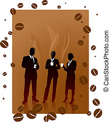Business coffee break - Origianl Vector Illustration:...