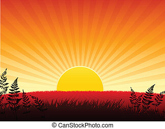 Sunset internet background - Origianl Vector Illustration:...