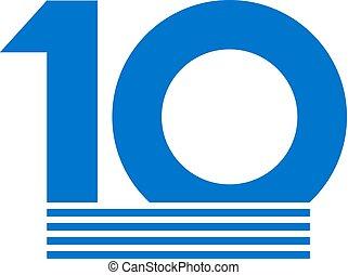 original, 10, número
