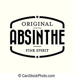 Original absinthe vintage stamp vector