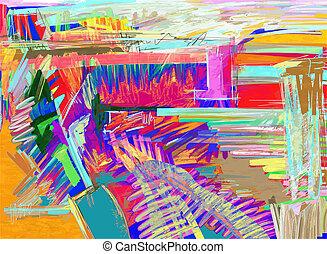 original abstract digital painting